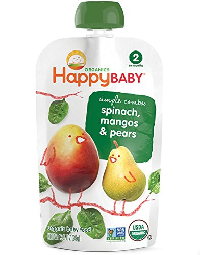 Happy Baby Simple Combos Spinach, Mango & Pear, Stage 2