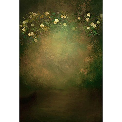 (MEHOFOTO Photography Polyester Backdrops Oil Painting Flowers Party Photo Studio Booth Background 5x7ft)