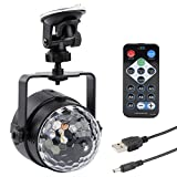 DJ Light Disco Sound Actived Party Lights RGBW with Remote Controller and USB Cable