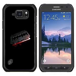 TECHCASE---Cubierta de la caja de protección para la piel dura ** Samsung Galaxy S6 Active G890A ** --Goth Blade & Blood Razor Oscuro