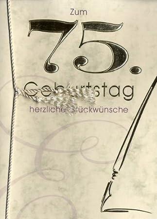 Grusskarte Urkunde Zum 75 Geburtstag Herzliche Gluckwunsche A5