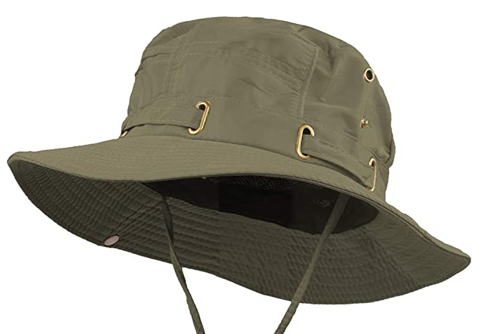 144c225cbe03 Waterproof Safari Hats | Wide Brimmed Sun Protection Boonie Cap | Explorer  Jungle Bush Bucket Hat