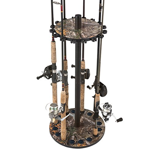 (Realtree Camo Round 16 Fishing Rod Storage Rack)