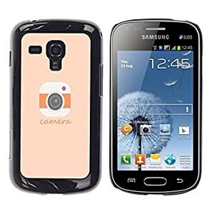"Dragon Case - FOR Samsung Galaxy S Duos S7562 - ""because of who you are - Caja protectora de pl??stico duro de la cubierta Dise?¡Ào Slim Fit"