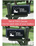 Personalized Fisherman Mailbox Letters Set of 2 Fishing Boat Name Address Vinyl Stickers
