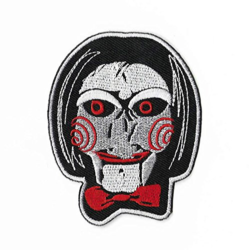 Billy The Puppet Patch Embroidered Badge Saw Jigsaw Kramer Series 2 3 Horror Movie Costume Souvenir Applique -