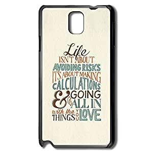 Samsung Note 3 Cases Life About Making Calculations Design Hard Back Cover Cases Desgined By RRG2G
