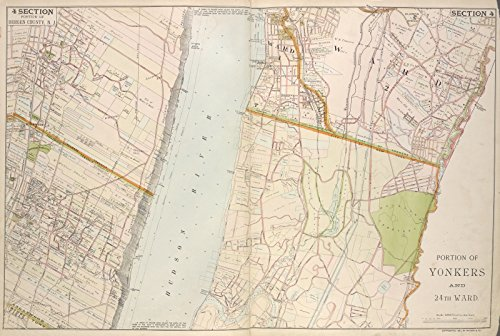 Map Poster - Portion of Bergen County, N.J.; Portion of Yonkers and 24th Ward. 18