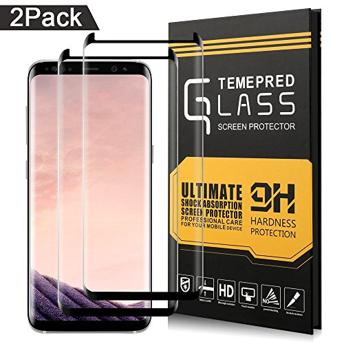 Samsung Galaxy S8 Plus Screen Protector, Airsspu Tempered Glass 3D Touch Compatible, 9H Hardness, Bubble