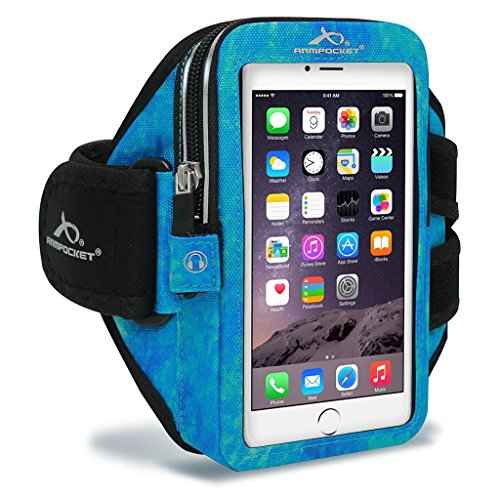 Armpocket Mega i-40TM Armband for iPhone X/8/7/6s/6 Plus, Galaxy S8+, Note 8, Google Pixel 2/1 & Pixel 2 XL/XL or Other Phones and Cases up to 6.5