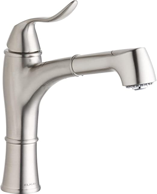 Elkay LKEC1041NK Single Hole Kitchen Faucet with Pull-out ...