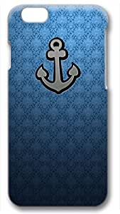 Anchor on Blue Background Customized Hard Shell 3d Case Cover For Apple Iphone 6 Plus 5.5 Inch By Custom Service Your Choice