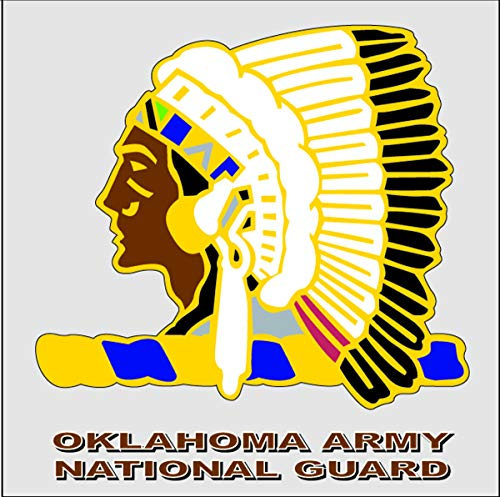 Oklahoma Army National Guard Unit Crest Decal