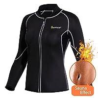 Women Hot Sweat Weight Loss Shirt Neoprene Body Shaper Sauna Jacket Suit Workout Long Training Clothes Fat Burner Top