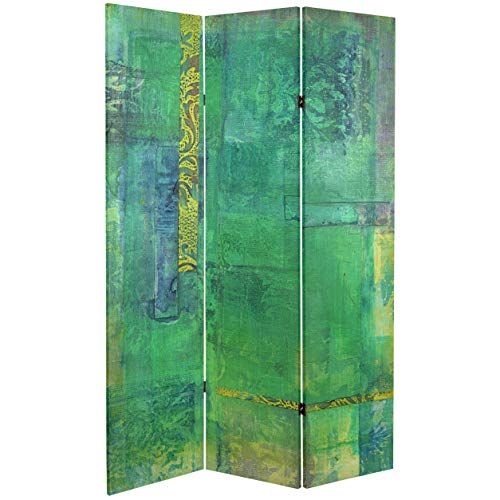 ORIENTAL FURNITURE 6 ft. Tall Double Sided Trellis Canvas Room Divider