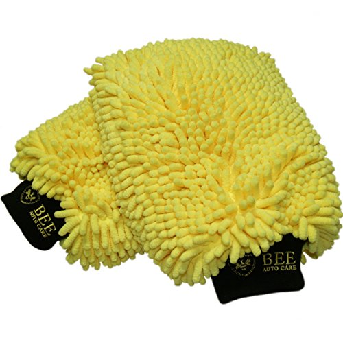 Buy 1 Get 1 1/2 Off - Bee Auto Care Double Chenille Car Wash Mitt and Duster - When You ADD TWO TO YOUR CART, The Second One Is 50% Off at Checkout (Washing Kit For Car compare prices)