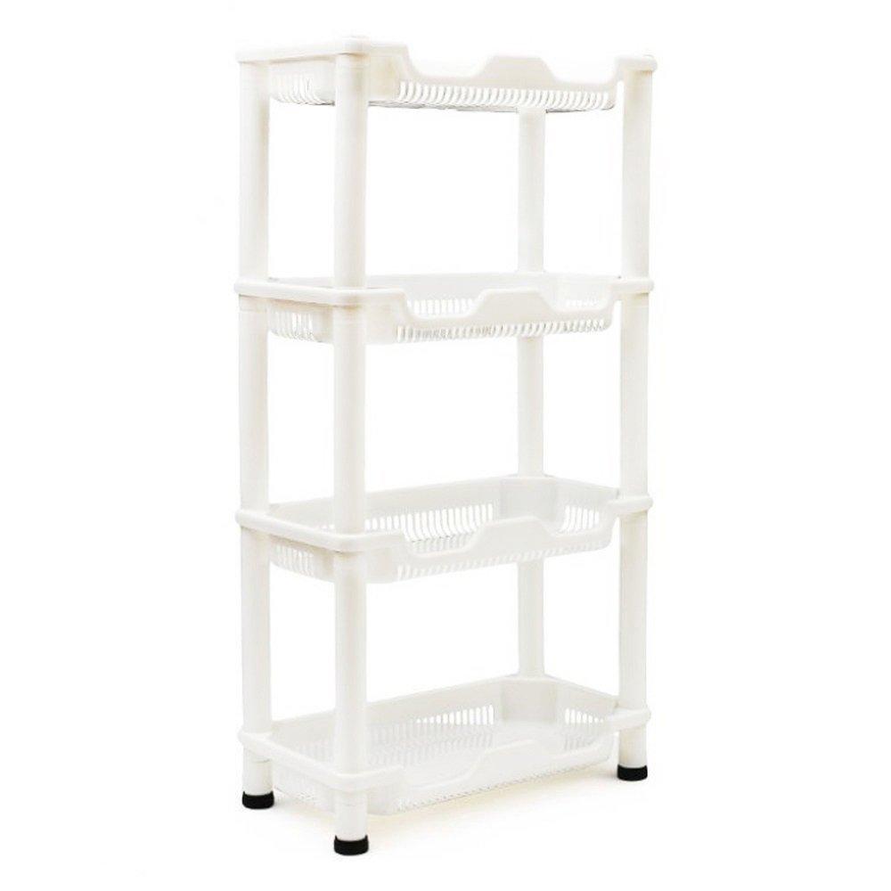 Adoraland Bathroom Storage Unit Shower Caddy Corner Shelves Freestanding Rust Proof Shelf 4 Tiers 75 x 39 x 21 CM