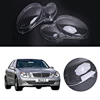 Jade 1 Pair Headlight Headlamp Clear Lens Plastic Shell Cover For Mercedes Benz E-CLASS W211 E320 2006-2008
