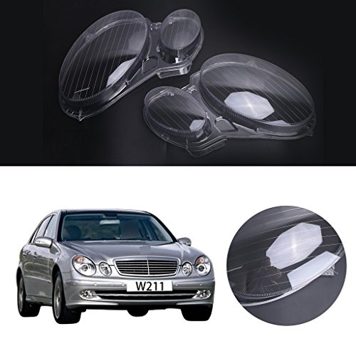 Jade 1 pair headlight headlamp clear lens plastic shell for Mercedes benz headlight lens