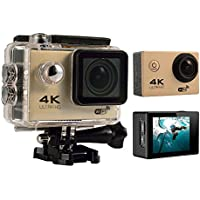 niceEshop(TM) 4K HD Wifi Action Camera 2.0 Inch 170 Degree Wide Angle Lens Action Camera WIFI 4k Waterproof Sports Action Camera (Gold)