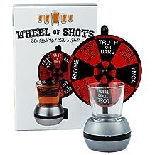 Fairly Odd Novelties Wheel of Shots Drinking Game Spinning Shot Glass, Clear