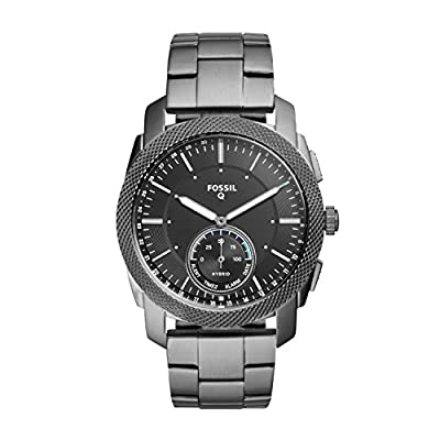 Fossil Q Men's Machine Stainless Steel Hybrid Smartwatch, Color: Grey (Model: FTW1166) from Fossil Connected Watches Child Code