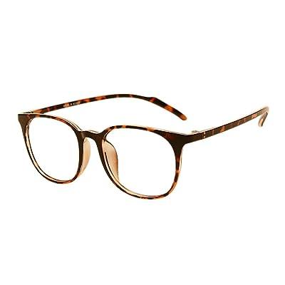 f98ed47f71 Deylaying Hombre Mujer Grande Marco oval Estudiante Miopía Gafas Ultralight  TR90 Marco Clásico Retro Los anteojos Miope Eyewear Fuerza -0.5~-6.0 (Estos  no ...