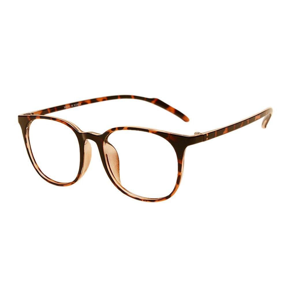 Haodasi Männer Frau Groß Oval Rahmen Schüler Kurzsichtigkeit Brille Ultraleicht TR90 Rahmen Klassisch Retro Kurzsichtig Eyewear Stärke -0.5~-6.0 (Dies sind keine Lesebrillen)