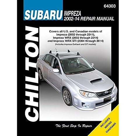 Chilton Repair Manual 64303 Subaru Impreza (2002-2011), WRX ... on 2007 subaru outback wiring diagram, 2004 subaru impreza wrx engine, 2002 subaru impreza wrx wiring diagram, 2008 subaru outback wiring diagram, 2004 subaru outback wiring diagram,