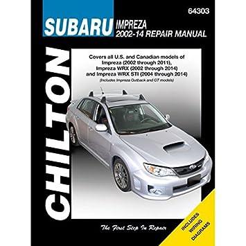 Amazon.com: Chilton Repair Manual 64303 Subaru Impreza (2002 ...