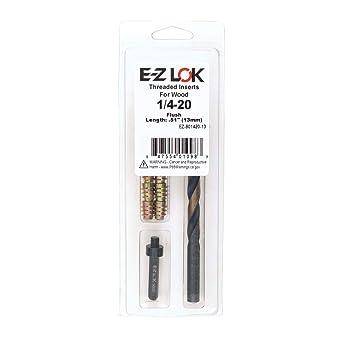 1//4-20 x 13mm Flush E-Z Hex Threaded Insert Installation Kit for Soft Wood