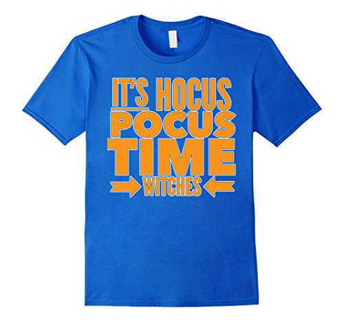Hocus Pocus Cast Costumes (Mens Hocus Pocus Time Witches Funny T-Shirt for Halloween Costume Medium Royal Blue)