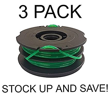 YourStoreFront 3 Pack Dual Line Trimmer Spool for Black & Decker DF-080-BKP