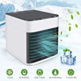 Efast Air Conditioner Fan, Air Personal Space Cooler Small Desktop Fan Quiet Personal Table Fan Mini Evaporative Air Circulator Cooler Humidifier Bladeless Quiet for Office, Dorm