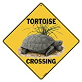 "Tortoise Crossing 12"" X 12"" Aluminum Sign"
