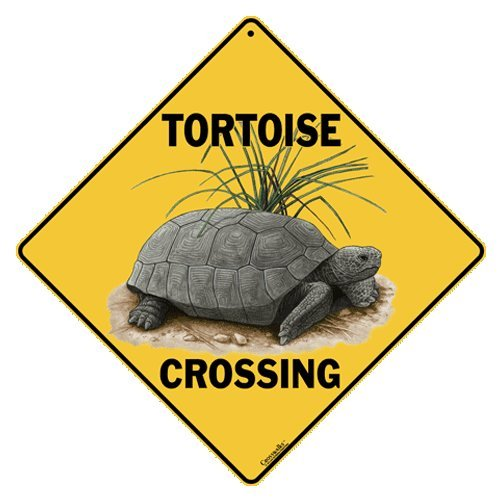 Tortoise Crossing 12  X 12  Aluminum Sign