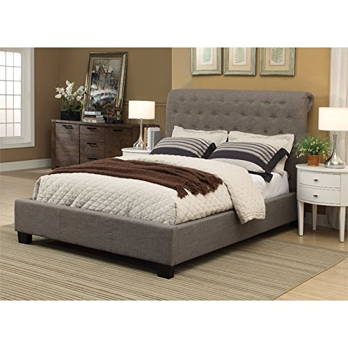 - Modus Furniture 3ZH3D611 Royal Tufted Platform Storage Bed, California King