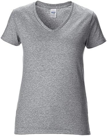 Gildan damska koszulka premium z dekoltem w kształcie litery V: Odzież
