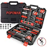 Tool Set, POPOMAN 102PCS Hand Tool Kit Combination Package Mixed with Socket, Hammer, Wrenches, Screwdriver Set, Pliers, Toolbox Storage Case for Home, Garage and Workshop-MTH100
