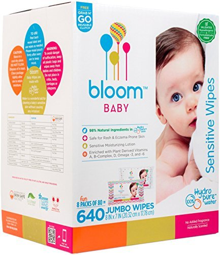 bloom BABY Sensitive Skin Unscented Hypoallergenic Baby Wipes