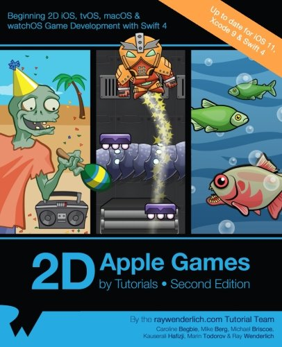 2D Apple Games by Tutorials Second Edition: Beginning 2D iOS, tvOS, macOS & watchOS Game Development with Swift 3 by Razeware LLC