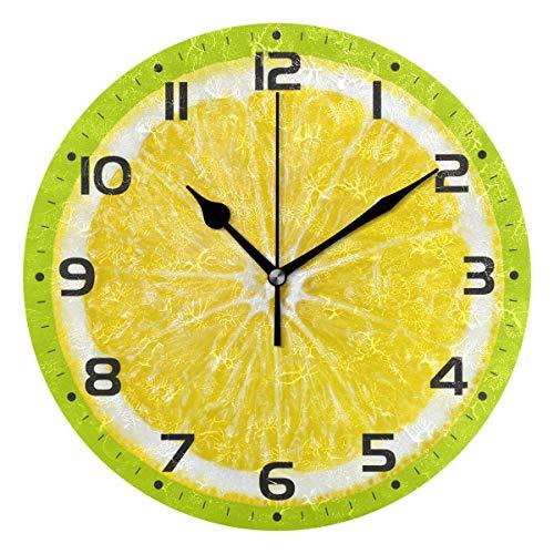 Naanle Citrus Fruit Orange Lemon Lime Clock Art