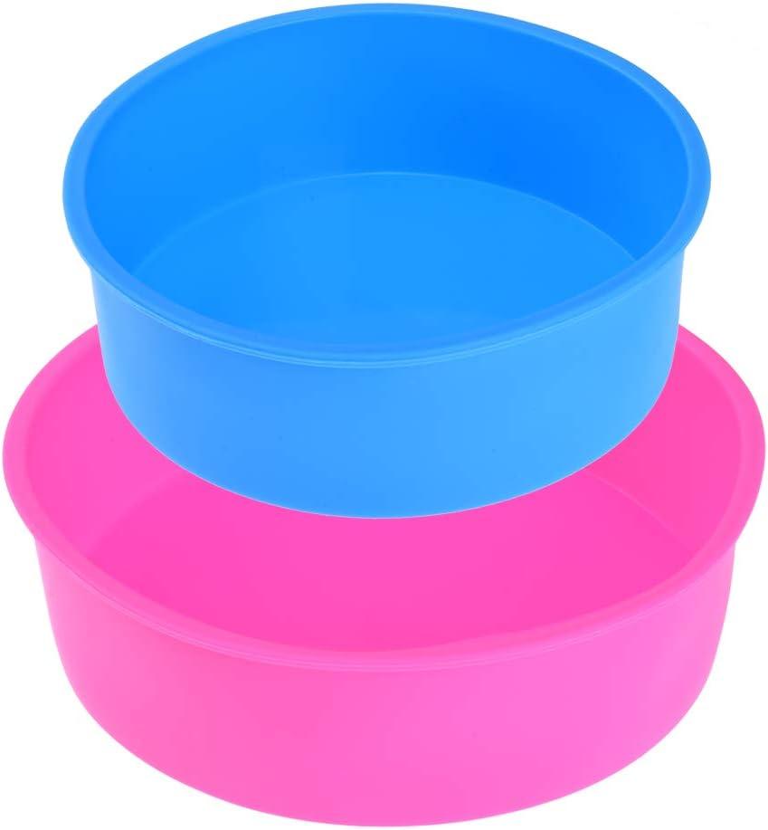 Uarter Molde de Silicona para Tartas, Redondo, 20 cm y 15 cm, Redondo, sin BPA, Antiadherente, 2,1