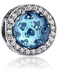 Berloque Cristal Radiante Azul