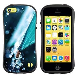 "Hypernova Slim Fit Dual Barniz Protector Caso Case Funda Para Apple iPhone 5C [Paraguas Naturaleza Otoño Tiempo""]"