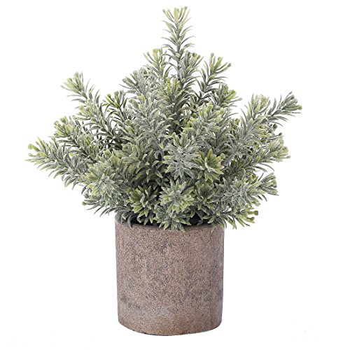 HC STAR Artificial Plant Mini Fake Plant Potted Decorative Lifelike Flower Green Plants - 1104 by HC STAR