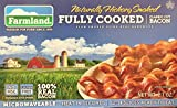 2.1oz Farmland Classic Cut Bacon, Fully Cooked, Naturally Hickory Smoked, No MSG, Gluten Free, Pack of 4