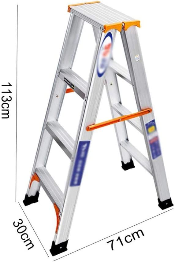 Escalera De Aluminio Plegable 2 Peldaños / 3 Peldaños / 4 Peldaños Escalera Multifunción Adecuado para El Desmontaje Y Montaje De Bombillas Cortinas Decoración Interior Y Exterior,4StepLadder: Amazon.es: Hogar