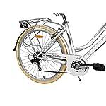 IBK-Bicicletta-Trekking-28-City-Bike-Donna-Telaio-Acciaio-Cambio-Shimano-7V