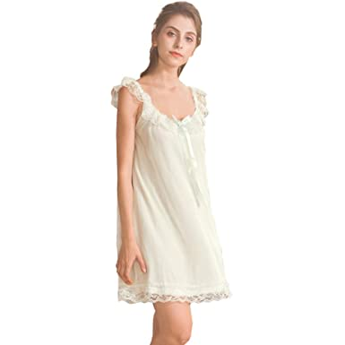 c9303c632c Women s Lace Vintage Victorian Nightgown Ladies Sleeveless Sleep Dress Green